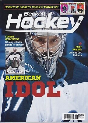 Beckett Hockey Price Guide Magazine June 2018 Connor Hellebuyck cover