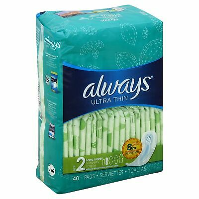 Always 6/40 Ult Thin Lngspr,Size 40CT,Pack of 3, Always Always 6/40 Ult Thin Lng