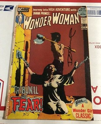 Wonder Woman Issue #199 VF (DC, 1972) Bondage cvr CR/OW pages signed by Oniel