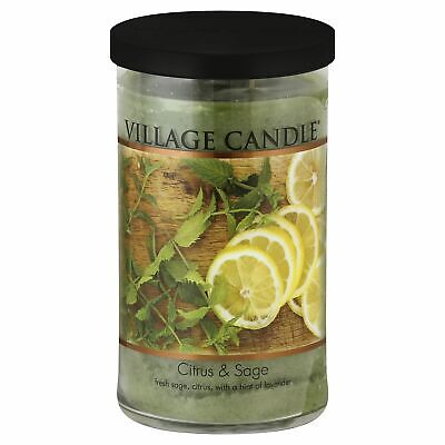 Vc Cndl Jar Deco Citrus/Sage,Size 24Z,Pack of 3, Vc Cndl Jar Deco Citrus/Sage 24