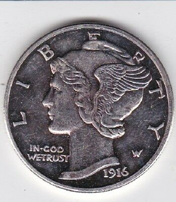 Oversize Uncirculated PROOF Reproduction of the 1916 D Mercury Dime  LOOK