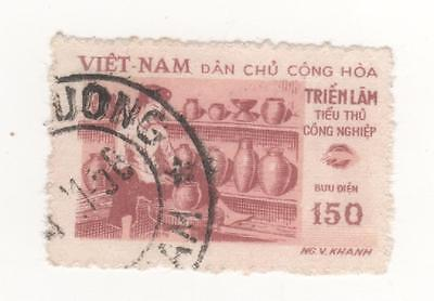 1958 North VIETNAM 150d. lake & red POTTERY HANDICRAFTS EXHIBITION  SG#N89 USED