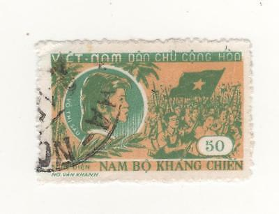 1958 North VIETNAM 50d. 13th Anniv of South Vietnam Resistance  SG#N91 USED