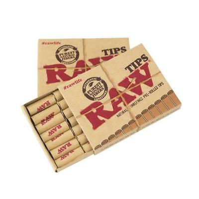 Raw Pre Rolled Natural Cigarette Filter Paper Tips (10 Packs)  **Free Shipping**