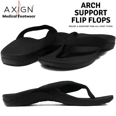 AXIGN Basic Orthotic Arch Support Flip Flops Sandal Thongs w Strap Archline