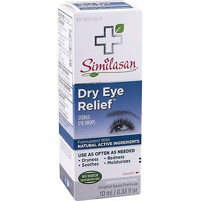 Similasan Dry Eye Relief Eye Drops 0.33 Ounce Bottle, for Temporary Relief...