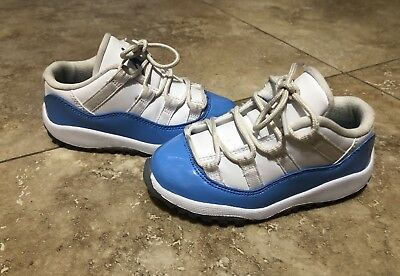 9983d055e969 Nike Air Jordan XI 11 Retro Low BT White UNC TD Toddler Size 9c 505836 106