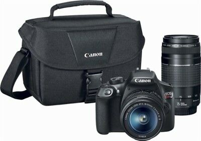 Canon EOS Rebel T6 Digital SLR Camera, 18-55mm, 75-300mm, with Accessory Kit
