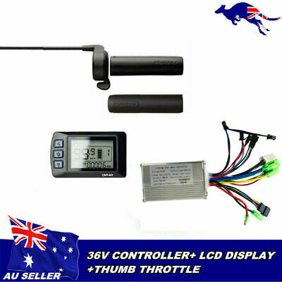 LCD Panel Display Speed View + Controller + Thumb Throttle For 36V ebike bicycle