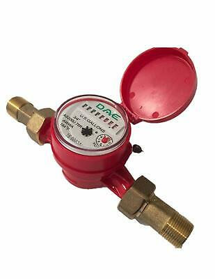 "DAE AS200U-75R Hot Water Meter, 3/4"" NPT Couplings, Measuring in Gallons"