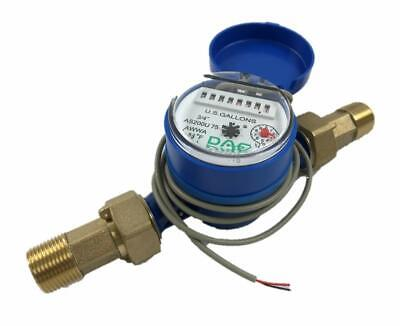 DAE AS200U-75P Water Meter, Pulse Output, 3/4 inch NPT Couplings, Gallon