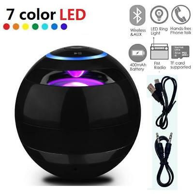 LED Magic Ball Wireless Bluetooth Speakers Louder 3D Stereo Sound Microphone