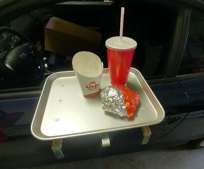2 Vintage TraCo Dallas USA Aluminum Car Hop Diner Drive In Restaurant Trays Pair