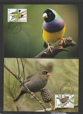 Australia 2018 : Australian Finches - Maxicards, Mint Condition
