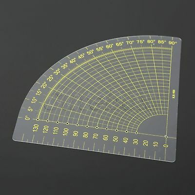 Quilting Patchwork Scrapbook Circle Fan Shape Plastic Ruler Tailor Sewing Tool