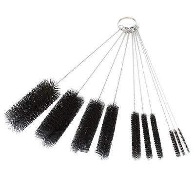 10pcs Stainless steel Nylon Straw Cleaners cleaning Brush Drinking pipe Bottle