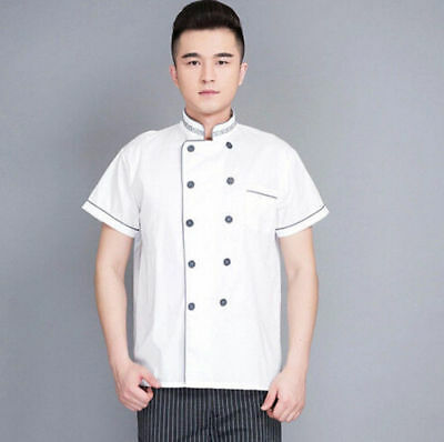 Uniform Summer Cook Chef Coat Working Restaurant Hotel Short Sleeve Clothes