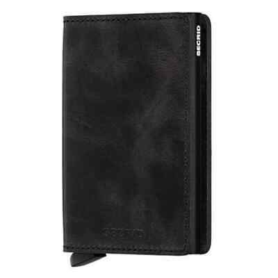 New Secrid Slim Wallet Leather RFID Vintage Black