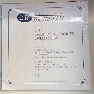 NEW Creative Memories - ORIGINAL 12 x 12 PICTURE POCKET PAGES - 5 SHEETS