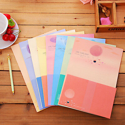 Cute Letter set Writing Stationary paper & Envelope for Postcard &Letter new.