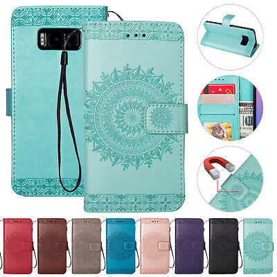 For Samsung Galaxy J5 J7 Pro Magnetic Flip Strap Leather Wallet Stand Case Cover
