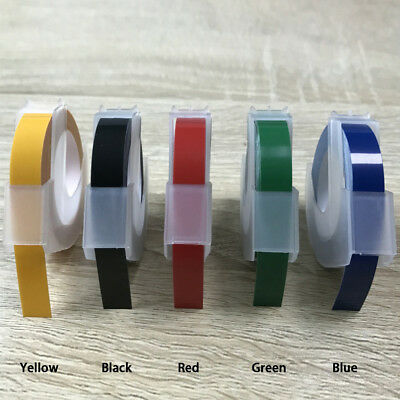 5Color Label Maker Embossing Refill Tape 6mm*3M for MOTEX Dymo replacement G1