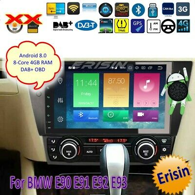 "BMW Autoradio DAB+Android 8.0 E90 E91 E92 E93 3er Car GPS Wifi OBD DTV 9"" 7490IT"