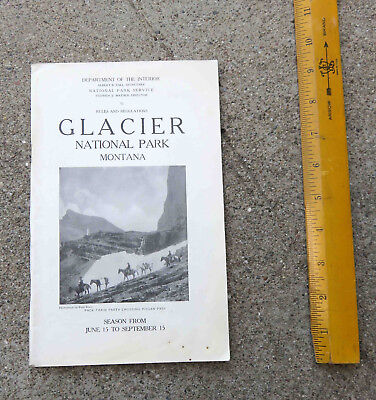 Original 1922 Glacier National Park Montana Guide Book and Map