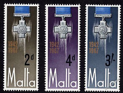 Malta 1967 25th Anniv. George Cross Award Complete Set SG 379 -8 Unmounted Mint