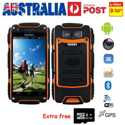 "3G Rugged Android Smartphone Dual Core Discovery V8 WiFi Mobile Phone 4.0"" +32GB"