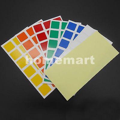 Cube Replacement Stickers Dayan 3x3x3 for Rubiks Speed Cube PVC  for 2 cubes NEW
