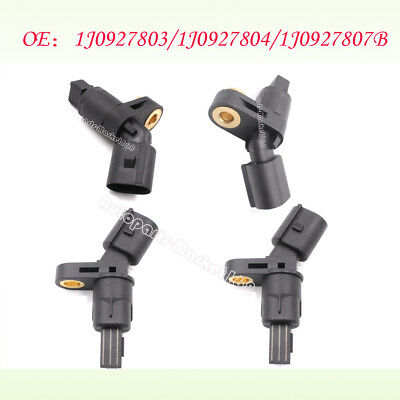 4pcs/set Fit VW AUDI MK4 Golf TT Beetle ABS Wheel Sensor Front /Rear Left /Right