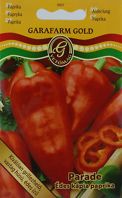 Sweet Parade Hungarian kapia pepper seeds. approx. 70 seeds