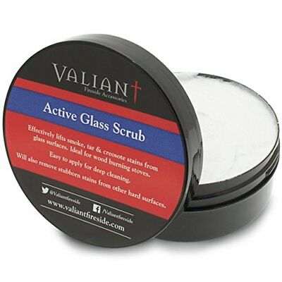 THE CHEMICAL HUT® Active Glass Scrub for Wood Burning Stoves Burner - Lifts Tar