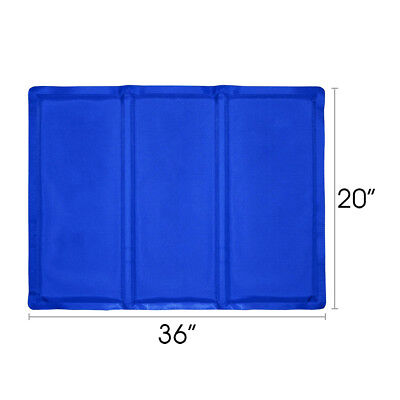 """20""""x36"""" Cooling Mat Pet Cooler Pad Pet Dog Crate Bed Kennel Blue, By Free Paws"""