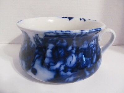 Antique Blue & White Floral Pattern Chamber Pot