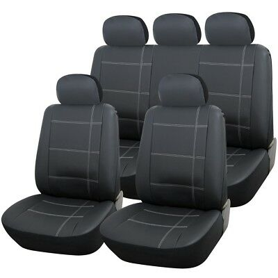 LUXURY GREY FAUX LEATHER SEAT COVER SET for MERCEDES-BENZ C-CLASS C63 AMG