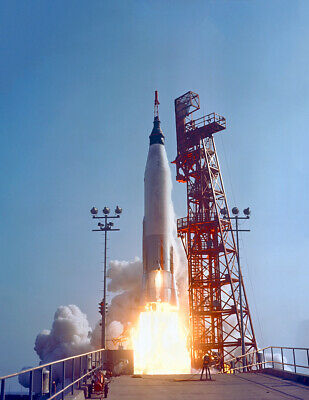 "1963 Mercury-Atlas 9 Launch, Florida Vintage Old Photo 8.5"" x 11"" Reprint"
