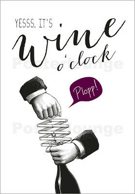 Poster / Canvas print / Glass print Wine o'clock - Amy and Kurt Berlin