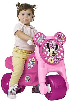 Ride-on Minnie Mouse Girl Wheels Wide Lot Stability Feber Tricycle
