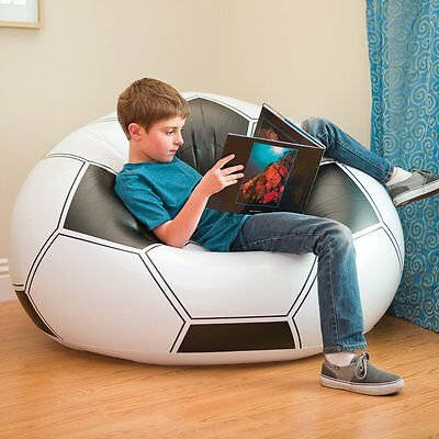 Pouf Armchair Inflatable Child Ball of Football Puff Niño Lightweight and