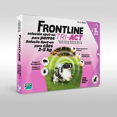 Frontline Tri-Act (2-5 kg) 3 Pipettes