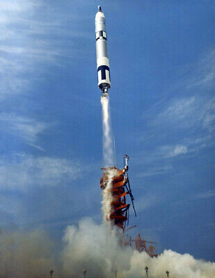 "1966 Gemini 8 Launch, Cape Kennedy, FL Vintage Old Photo 8.5"" x 11"" Reprint"