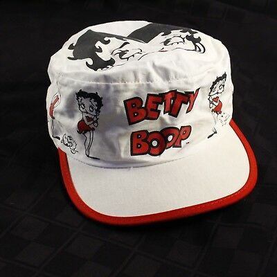 Vintage Betty Boop Painters All Over Print Cap Fitted Hat Crowd Specialties USA
