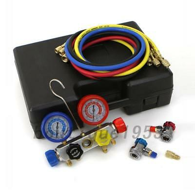 4-Way AC Diagnostic Manifold Gauge Set Ideal Black Box For R410a R22 R134a HVAC