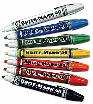 Dykem Brite-Mark 40 Industrial Paint Marker Pen for Metal, Glass, Plastic etc.