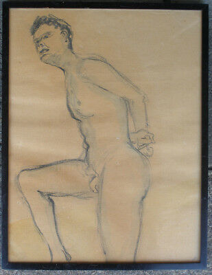 Study of a male nude. 1930s. Signed.