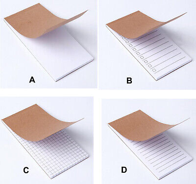 4 Style Slim Shopping Jotter List Memo Paper Pad Notepad Notes 50 Sheets Quality