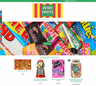 Automated RETRO SWEETS business: Upto £30 per sale! FREE Domain/Hosting/SSL Cert