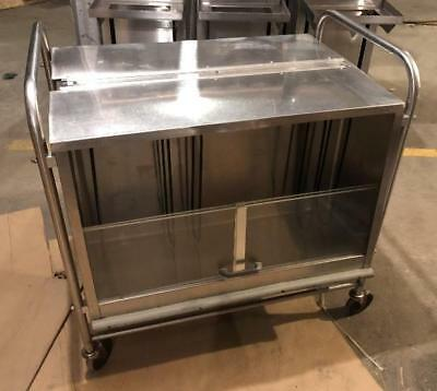 Vintage Stainless Steel SERV-O-LIFT Cafeteria Catering Tray Server Cart